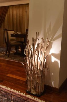 Coastal Driftwood Decor Floor Lamp - Floor Lamps, Wood Lamps - This magnificent driftwood floor lamp brings the Ocean and nature's beauty inside your home with its exquisite stylish design and is in harmony with every … Read