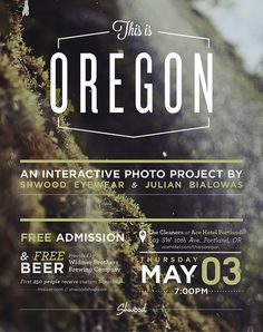 """May 3: Shwood Presents """"This is Oregon"""" First Thursday Photo Show @ The Cleaners at ACE Hotel Portland by PDX Pipeline"""
