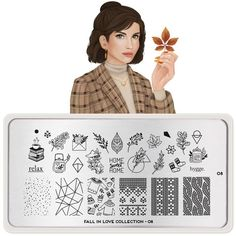 MoYou London- Fall in Love- 08 – Beautometry Stamping Nail Polish, Nail Stamping Plates, Problem Quotes, Mushroom Tea, Thanksgiving Nail Art, Stainless Steel Nails, Image Plate, Fallen London, Forest Animals