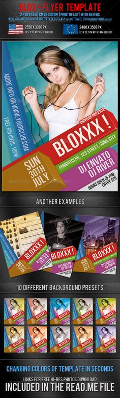 Blox Party Flyer Template — Photoshop PSD #sound mixer #invitation • Available here → https://graphicriver.net/item/blox-party-flyer-template/233645?ref=pxcr
