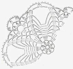 Crochet Motif Patterns, Crochet Lace Edging, Crochet Basket Pattern, Crochet Diagram, Crochet Doilies, Crochet Stitches, Crochet Cape, Knit Crochet, Lace Flowers