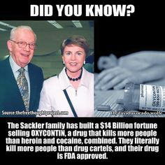 Oxycontin kills more people than heroin and cocaine combined!