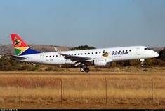 Airlink's first Embraer E190 seen this afternoon about to touch down at Pretoria's Wonderboom Airport. This aircraft was formerly VH-ZPF and N193NC before being re-registered to ZS-YAA upon arrival in South Africa.. ZS-YAA. Embraer 190-100IGW. JetPhotos.com is the biggest database of aviation photographs with over 3 million screened photos online!