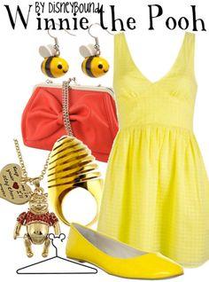 Winnie the Pooh by DisneyBound www.pinterest.com/lesliekaydb