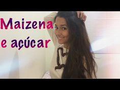 MAIZENA E AÇÚCAR- Deixe seu cabelo LISO e SUPER HIDRATADO- (passo a passo) - YouTube