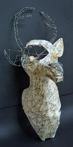Wire & Mixed media sculpture. High School Art Art Teacher Jennifer Lipsey Edwards
