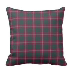 Crawford Household Maroon and Inexperienced Tartan Throw Pillow. ** Find out even more by clicking the image link