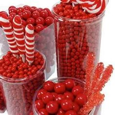 red candy buffets