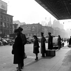 Scene in New York City, 1944.  By William Shrout