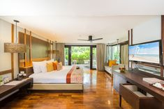 Enjoy your holiday in the big room, wide bed and beach front at The Rock Hua Hin. Jacuzzi, The Rock, Zen, Beach, Holiday, Room, Furniture, Home Decor, Bedroom