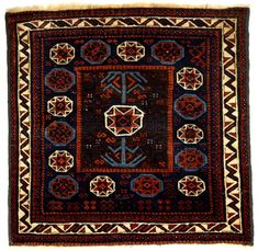 Culture Baluchi people Creation date about 1870 Collection Textiles Materials wool Dimensions 30 x 31 in. | 76.2 x 78.7 cm.