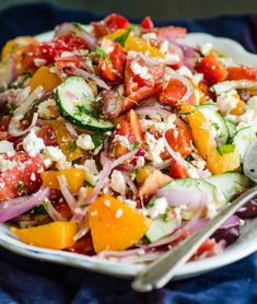 Recipe: Tomato Salad with Red Onion, Dill and Feta — Salad Recipes from The Kitchn