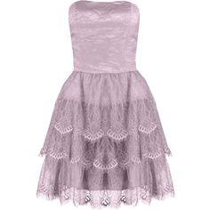 Laona Cocktail dress / Party dress pearl ($100) ❤ liked on Polyvore featuring dresses, short dresses, vestidos, rose, short prom dresses, purple dress, strapless dress and short cocktail dresses