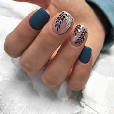 unique spring and summer nails color ideas that you must try 19 ~ my - Nails Teal Nails, Fancy Nails, Cute Nails, Pretty Nails, Winter Nails, Autumn Nails, Summer Nails, Hair And Nails, My Nails