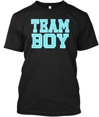 Wish | Team Boy Baby Shower Gender Reveal Party Cute Funny Blue Hanes Tagless Tee T-Shirt