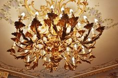 Rococo chandelier. XIX th century, French work. Moscow,private home. Alexandre VOSSION antiques.