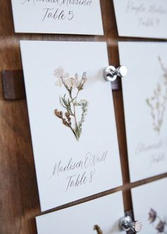 The Prettiest Pressed Flower Wedding Details, From Invitations to Table Numbers