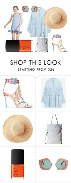 A fashion look from June 2016 featuring denim top, strap sandals and purses crossbody. Browse and shop related looks. Sophia Webster, Denim Top, Billabong, Marni, Strap Sandals, Nars Cosmetics, Toast, Fashion Looks, Sun