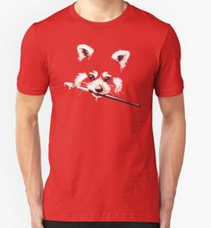 Who's as obsessed with red pandas as we are? We can't get over how cute these fox-like creatures are, especially this artistic little guy by Obivan on Redbubble.