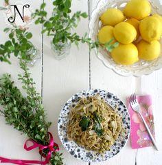 Healthy recipe: Spaghetti with lemon, spinach, peas and garlic