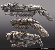 Oriental SteamPunk Shotgun, Raul Aparicio on ArtStation at https://www.artstation.com/artwork/oriental-steampunk-shotgun