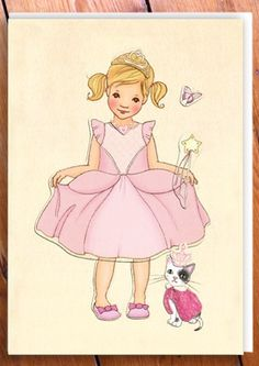 Belle & Boo Sticker Card - Ballerina & Fairy - Papiermier