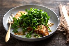 Soy-Ginger Chicken With Asian Greens or Arugula Recipe - NYT Cooking