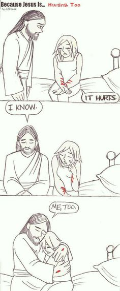 Because Jesus is Hurting Too by juhfreak on DeviantArt - christianity - This is an eye opener for me… for the first time i realize that Jesus was actually hurting when i - Prayer Quotes, Bible Verses Quotes, Jesus Quotes, Faith Quotes, Christian Memes, Jesus Pictures, God Loves You, God Jesus, Quotes About God