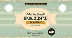 Vintage paint label
