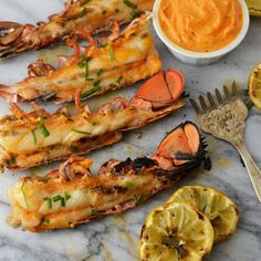 Grilled Lobster Tails with Sriracha Perfect for summer grilling! Easy, step by step directions.