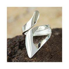 Silver 'Love Encounter' Ring (Peru) from NOVICA