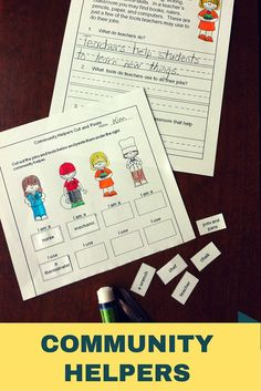 These reading passages and activities are all about community helpers!  Great for first grade!