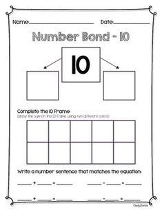 ***FREEBIE*** Number Bond - Practice Sheets (Eureka Math C