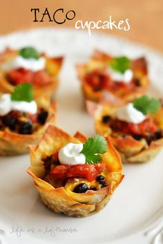 Taco cupcakes: substitute Boca crumbles for the ground beef