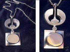 Finnish Modernist Silver Necklace Signed Jorma Laine (10/23/2008)