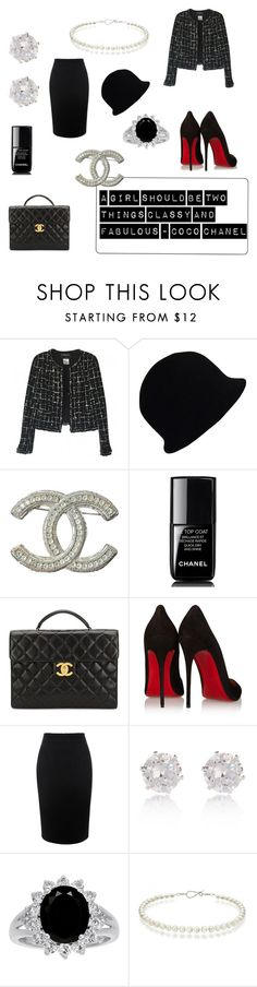 """Classy and fabulous -coco"" by camilla-sjoeberg on Polyvore featuring Chanel, Christian Louboutin, Alexander McQueen and River Island"