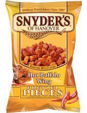 Snyders Hot Buffalo Wing Pretzel Pieces 125g