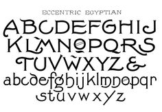 Egyptian Handwriting Font