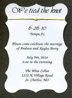 16 Wedding Reception Only Invitation Wording Examples | Messages and ...