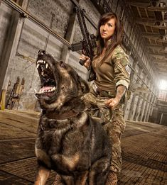 Here you find very hot and dangerous Women & Guns, Military Girls, IDF Roses. Military Working Dogs, Military Dogs, Military Women, Police Dogs, Military Army, War Dogs, Tough Girl, Female Soldier, Badass Women