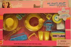 NIB Barbie 2001 So Much Stuff Spring Break Summer Beach Bonanza Set New Rare