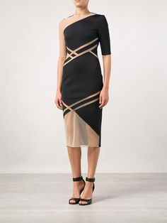 David Koma Net Insert Dress - Curve - Farfetch.com jαɢlαdy