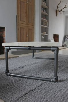 casey white washed reclaimed wood coffee table by urban grain…