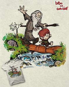 Coolest Calvin & Hobbes mashup I've seen? Probably. From here: http://www.threadless.com/submission/407056/Bilbo_and_Gandalf