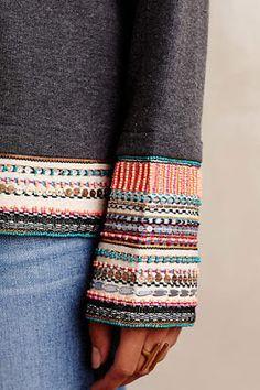 Embellished trim to elongate a hem. Acts like stacked bracelets