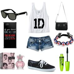 """""""One direction summer outfit"""" by jenna-bo-benna on Polyvore"""
