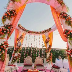 Looking for latest Outdoor Wedding Decorations? Check out the trending images of the best Indian Outdoor Wedding Decoration ideas. Wedding Ceremony Ideas, Desi Wedding Decor, Wedding Hall Decorations, Luxury Wedding Decor, Marriage Decoration, Wedding Mandap, Wedding Venues, Wedding Bride, Indian Wedding Venue