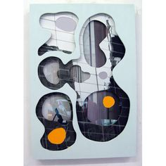 Mick Finch, Bare Life, 2010, acrylic paint and photo relief, wood, 40 x 80 x 5 cm