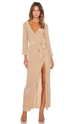 AGAIN Bianca Dress in Camel