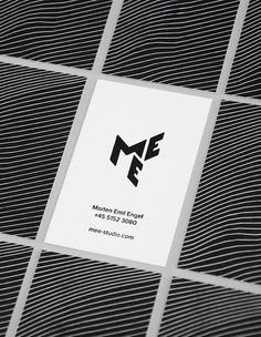 Visual identity for MEE Studio By Rama Studio View more projects on Brand Identity Design, Corporate Design, Branding Design, Logo Design, Branding Ideas, Graphic Design, Business Card Design Inspiration, Creative Review, Typography Logo